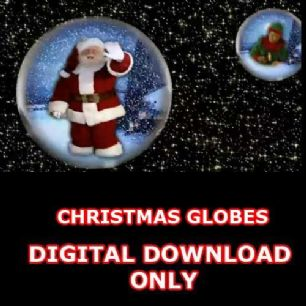 CHRISTMAS GLOBES DIGITAL DOWNLOAD